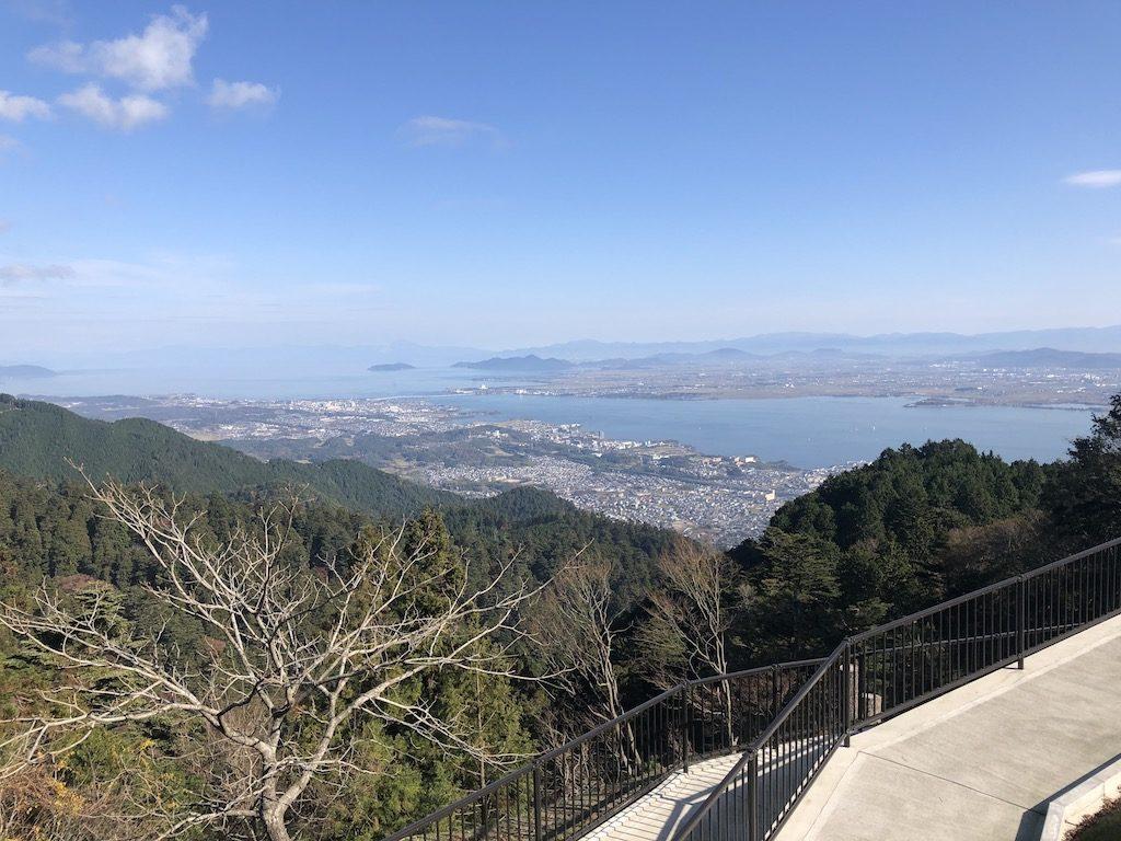 ケーブルカー降りてからの琵琶湖