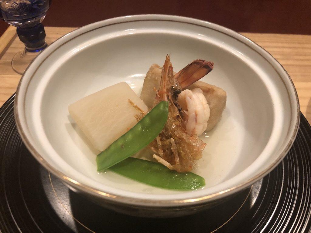 海老芋と天ぷら 才巻き海老